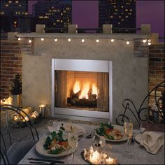 Majestic Al Fresco Vent Free Outdoor Gas Fireplace Insert with Optional  Door Kit 42 System gas fireplace