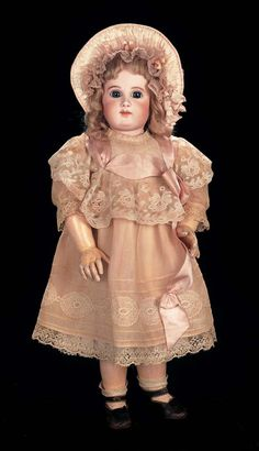 6/30/13 In the Mind's Eye - The Geri Baker Collection: 60 Superb Earliest Period French Bisque Bebe EJ,Size 9,with Fine Antique Costume