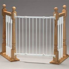 Photo of the Gate - Angle Mount Safeway Hardware Mount Gate - White Metal by Kidco