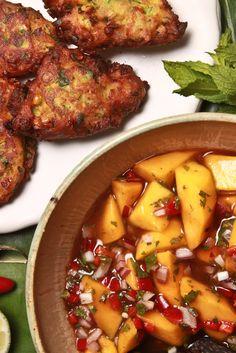Spicy Corn Pakoras With Mango-Tamarind Chutney Recipe - NYT Cooking