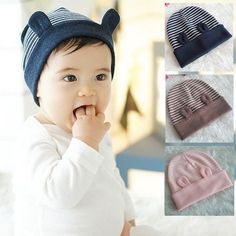 Baby Turban, Baby Sewing Projects, Sewing For Kids, Fashion Niños, Cartoon Ears, Baby Hut, Baby Winter, Baby Boy Outfits, Baby Knitting