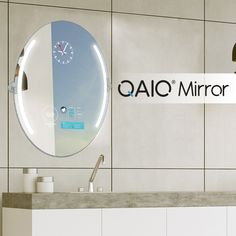 QAIO smart mirror is a smart bathroom mirror that allows you to connect smart devices to the smart mirror. QAIO smart mirror has endless possibilities. Led Mirror, Oval Mirror, Bathroom Mirror Design, Bathtub, Interior, Home Decor, Standing Bath, Bathtubs, Decoration Home