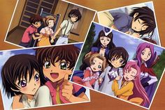 Aniem/manga: Code Geass, some characters in childhood.
