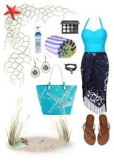 """""""Sea Date"""" by mwhispers ❤ liked on Polyvore featuring Aéropostale, Monsoon, Bling Jewelry, Las Bayadas, Not Your Mother's, Shany and beachtotes"""