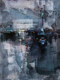 """Tibor Nagy (Slovakian, b. 1963, Rimavská Sobota, Slovakia) - Blue Dusk Paintings: Oil on Linen """