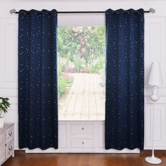 Soft Microfiber Room Darkening Thermal Insulated & Heating Against Grommet Top Blackout Navy Stars kids Curtain Panel/Draper 63 by 52 inch http://smile.amazon.com/dp/B0130628LE/ref=cm_sw_r_pi_dp_U609wb0WRFX9C