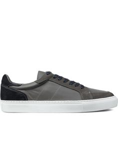 705e17feac9b Garment Project Grey navy  white Sole Leather Suede Mixed Off Court Sneakers  Navy And