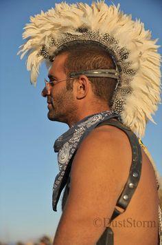 Burning Man Hair #feather Mohawk