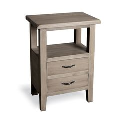 This smart pine Side Table from our Forest Range would be ideal for either the bedroom or living room. Two drawers and a spacious shelf provide you with lots of storage room. Click on the image for a closer look.
