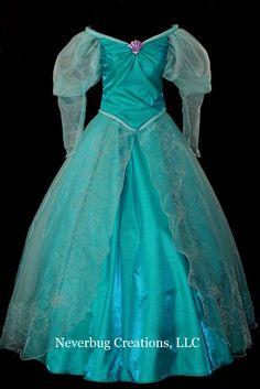 New Little Mermaid Aqua Custom Costume by NeverbugCreations