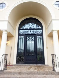 Iron Lion Entries - What a difference this door made for this house!