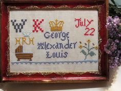 A Royal Baby Souvenir Sampler PATTERN / by thesamplergirl, $6.00