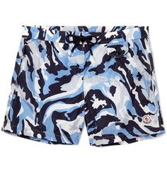 Moncler's warm-weather attire is just as covetable as its iconic winter jackets. These shorts feature a tonal blue camouflage print, but you'll do anything but blend in at the beach. They have an elasticated waistband and mesh lining for a secure and comfortable fit. Wear them with slides and retro-inspired sunnies.