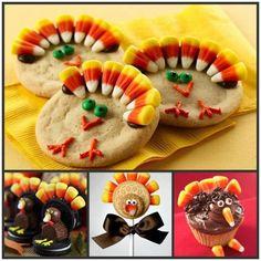 creative food ideas | Creative Food Ideas / Thanksgiving Cookies