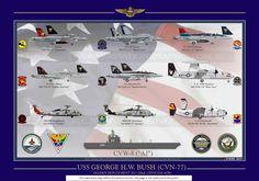 UNITED STATES NAVY /  USS BUSH CVN-77