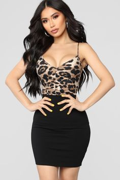Wicked Wild Bodysuit - Brown/Combo Who wants me wearing this on a date? Fashion Fail, Fashion Outfits, Womens Fashion, Rompers Women, Jumpsuits For Women, Photo Mannequin, Fitness Video, Bodysuit Fashion, Bodysuit Dress