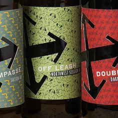 Crux Fermentation Project (Bend, OR) beer labels designed by TBD.