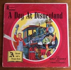 259d3181572 A Day at Disneyland LP Record ST-3901 Music and Narration by Walt Disney