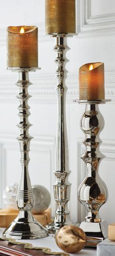 Doweled stylistic influences give the Cavendish Candle Stick an air of old-world charm and finesse.