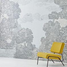 wallpaper | West Elm Fern Wallpaper, Mirrored Wallpaper, Wallpaper Please, Pop Art Wallpaper, Cloud Wallpaper, Wallpaper Panels, Striped Wallpaper, Mirror Wall Art, Home Wall Art