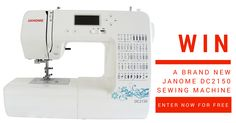 Here's a chance to win a Brand New Janome DC2150 Sewing Machine!  Entries close 30th November midnight AEST. Click Here and Enter for Free to Win. http://upvir.al/ref/10480038