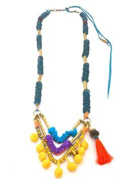 De Petra Shambhala Necklace with pom pom