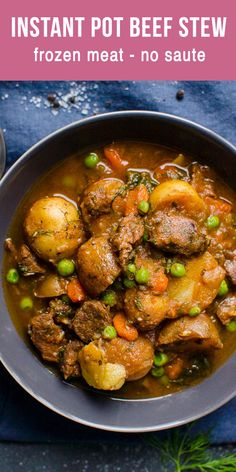 Easy Instant Pot Beef Stew Recipe with a lot of flavor. Pressure cooker beef stew with No Burn and super simple ingredients. This Instant Pot Beef Stew is my Ukrainian grandma's recipe. Pinky promise, you will be blown away. Pork Stew Meat, Easy Beef Stew, Stew Meat Recipes, Easy Meat Recipes, Ninja Recipes, Instant Pot Beef Stew Recipe, Instant Pot Dinner Recipes, Pot Recipe, Instapot Beef Stew