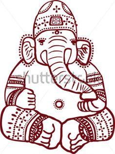 Traditional Indian Henna Design Of The Hindu Elephant God Ganesha By Veyronik Via ShutterStock
