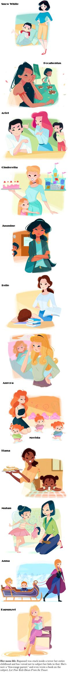 If Disney Princesses Were Moms Happily ever after… after kids.