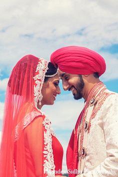 indian wedding portraits sikh bride groom pink lengha http://maharaniweddings.com/gallery/photo/12113