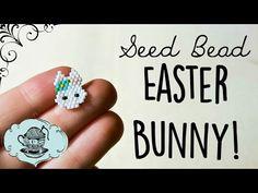 DIY Seed Bead Easter Spring Bunny // Bead Weaving // ¦ The Corner of Craft - YouTube
