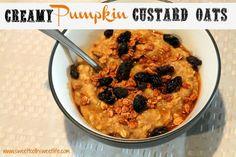 creamy pumpkin custard oats