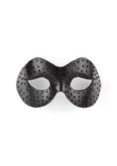 Ouch! Diamant Moulded Maske - schwarz - Bondage - Fetish