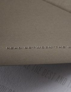 Fantastic embossed details // Read Between the Lines greeting cards