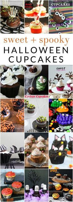 Keep dessert simple this year with these easy Halloween cupcake ideas. From sweet to spooky, there is a treat for every style, with spiders, spider webs, witches, monsters, and more!