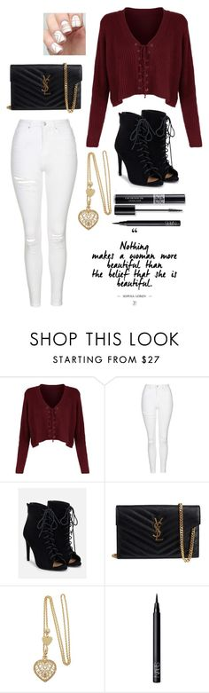 """""""Untitled #139"""" by imthegirlblaringmusicinthecorner on Polyvore featuring Topshop, JustFab, Yves Saint Laurent, Christian Dior and NARS Cosmetics"""