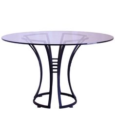 Deco Style Glass-Top Garden Table | 1stdibs.com
