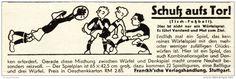 Werbung - Original-Werbung/ Anzeige 1931 - TISCH - FUSSBALL / FRANCKH'SCHE VERLAGSHANDLUNG STUTTGART - ca. 140 x 45 mm
