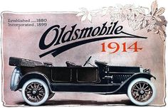 ๑ Nineteen Fourteen ๑ historical happenings, fashion, art & style from a century ago - 1914 Oldsmobile Car Ad General Motors, Roadster Car, Interactive Exhibition, Interactive Activities, Car Posters, My Church, Car Advertising, Vintage Ads, Motor Car