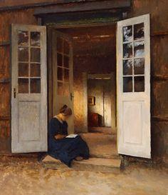 Girl In Open Door, Peter Vilhelm Ilsted