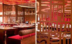 Jaleo restaurant by Rockwell Group Toormix, Las Vegas store design branding Restaurant Poster, Restaurant Identity, Deco Restaurant, Restaurant Design, Restaurant Ideas, Restaurant Chairs, Environmental Graphic Design, Environmental Graphics, Design Blog