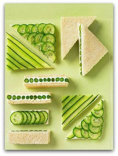 Make the perfect cucumber sandwich ♥
