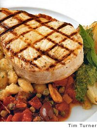 Portuguese Swordfish Kabobs Recipe — Dishmaps