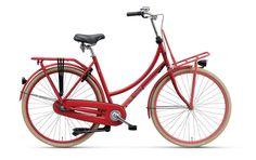 Rower Miejski Damski Stylowy Batavus CNCTD. Wyrafinowany model Batavusa, łączący w sobie użyteczność oraz elegancję podkreśloną pięknym, magnetycznym czerwonym kolorem. Rower dostępny jest także w pięciu innych wersjach wizualnych. http://damelo.pl/damskie-rowery-miejskie-stylowe/776-rower-miejski-damski-batavus-cnctd.html