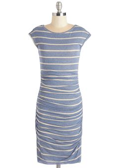 Delight to Be Seen Dress. Its clear that this striped sheath dress is one of your favorites! #blue #modcloth