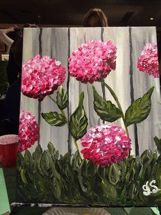sip and paint 2018 acrylic canvas painting Garden Fence Art, Garden Mural, Diy Fence, Fence Ideas, Tole Painting, Painting On Wood, Painting & Drawing, Pallet Art, Arte Floral