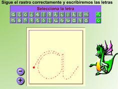 Para seguir el rastro de cada letra al inicio de la lectoescritura http://www.genmagic.net/lengua5/plletres3c.swf