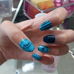 #nail #nails #nailstagram #nailart #nailpolish #blue #chan #love