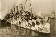 Take a look at the Mauretania in her dazzle days from 1915 - Liverpool Echo