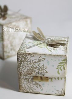 Stampin' Sarah!: A Folding Awesomely Artistic Gift Box from Stampin' Up! UK Demonstrator Sarah Poulton